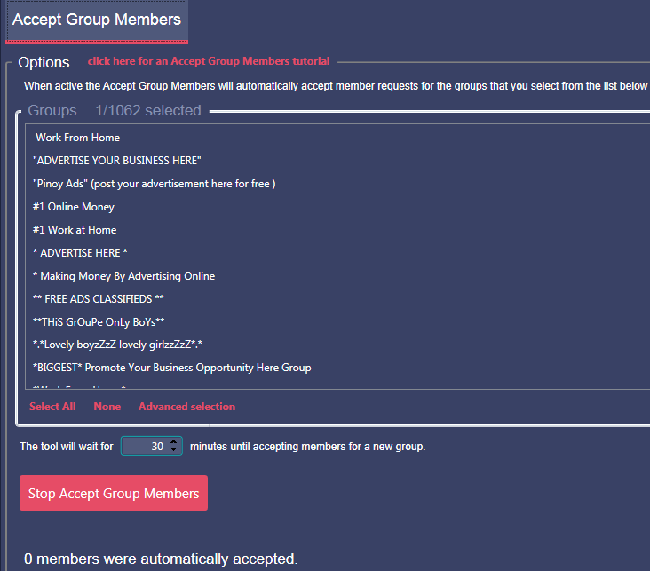 Auto Accept New Groum Membership Requests with Mass Planner