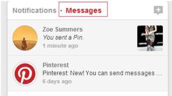 new pinterest messages